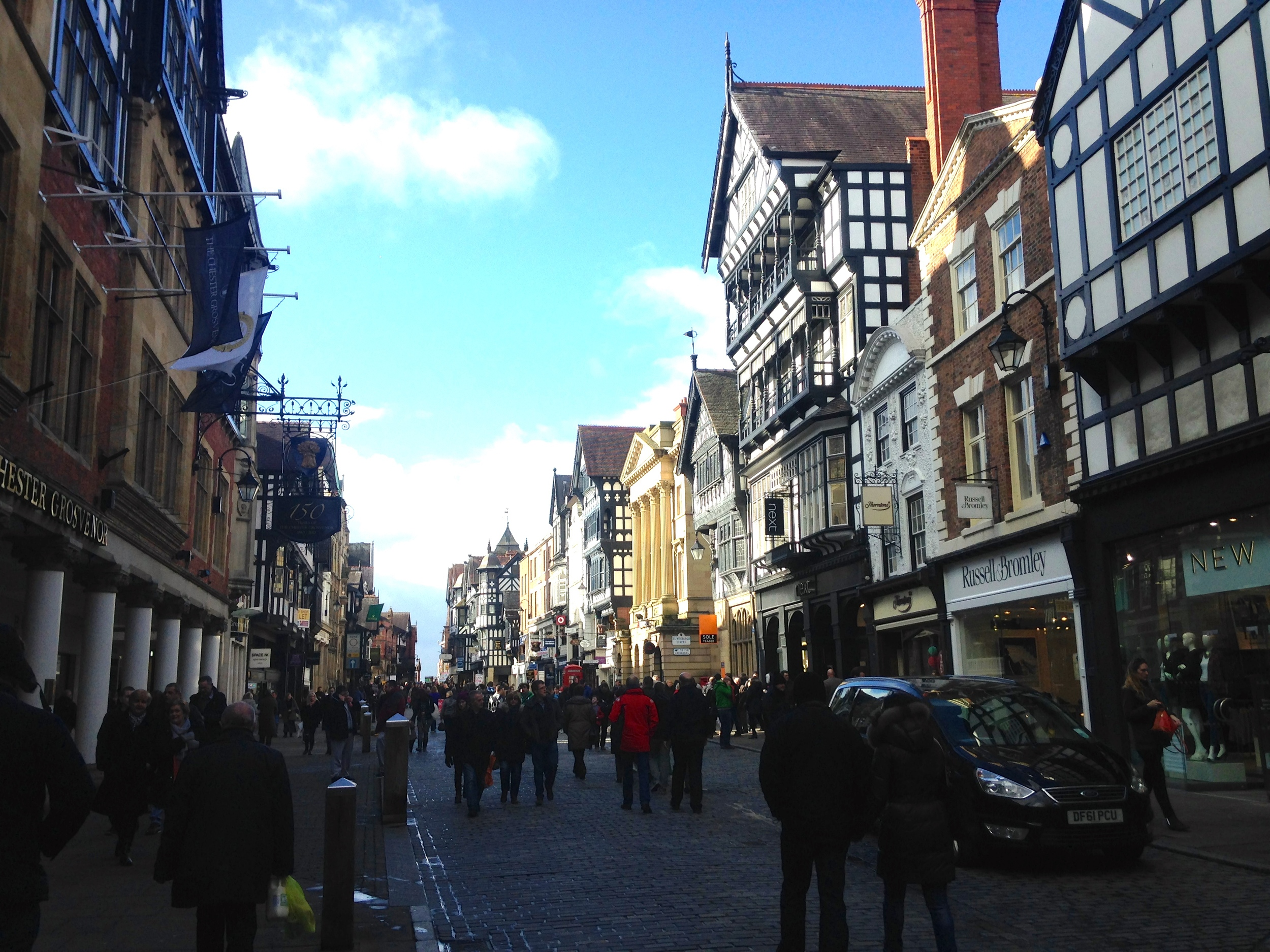 The main shopping street in Chester.