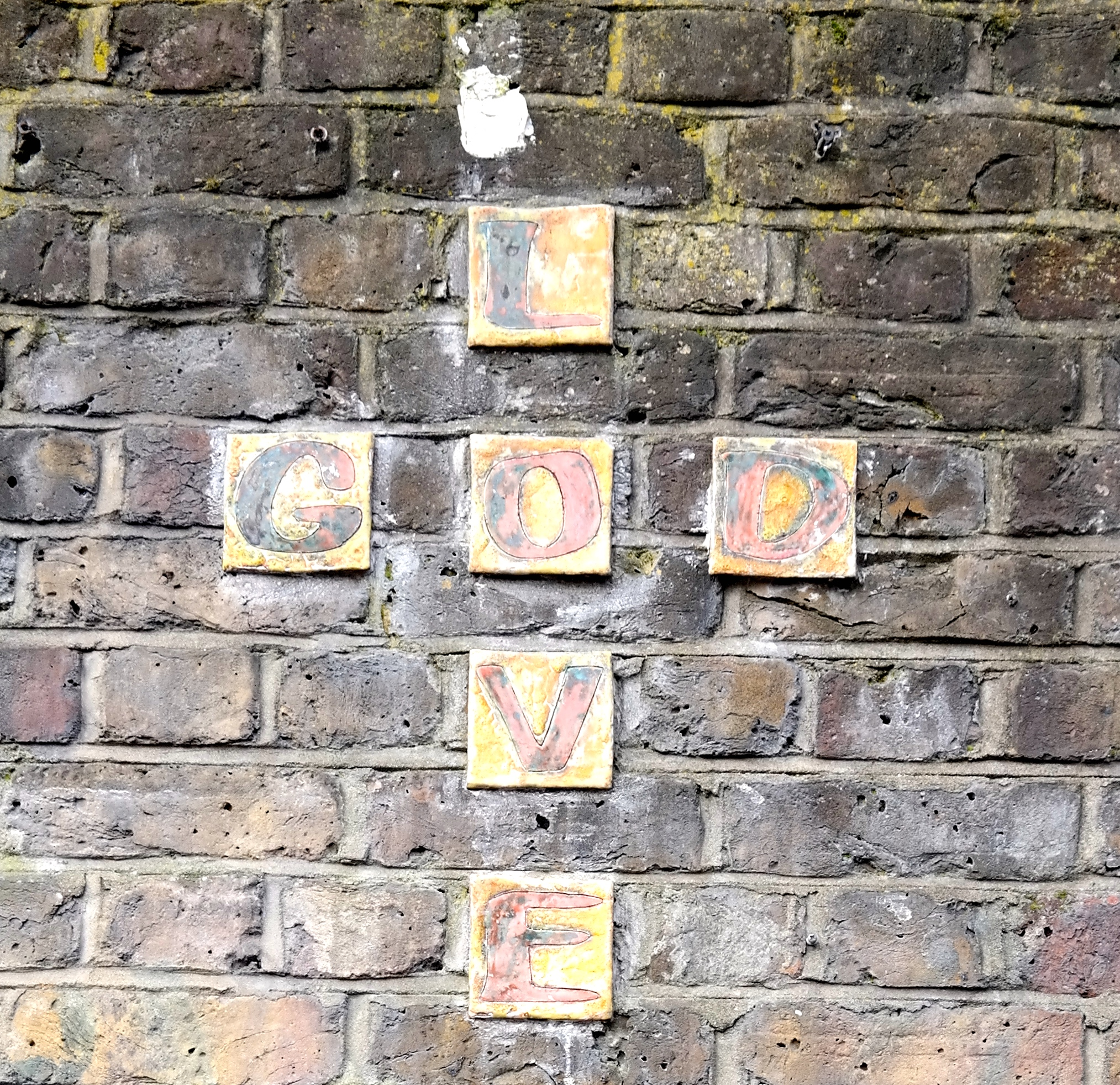 On a wall in Camden Town.