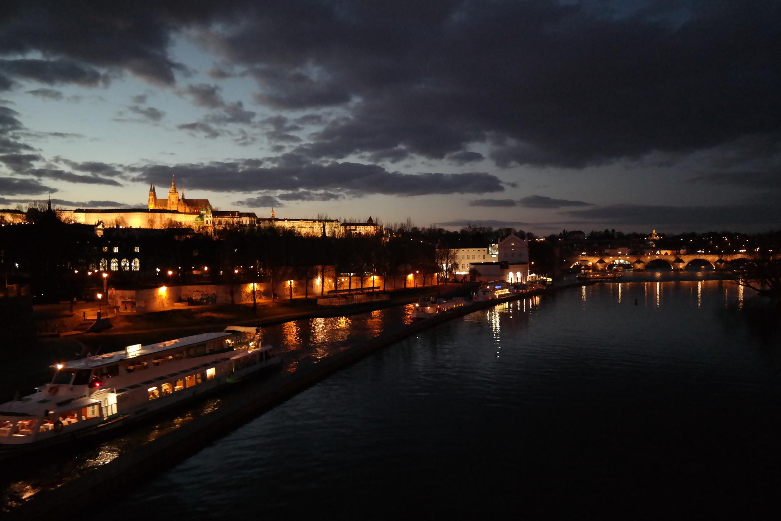 Prague, Czech Republic at night. Yes, it is as beautiful as it looks!