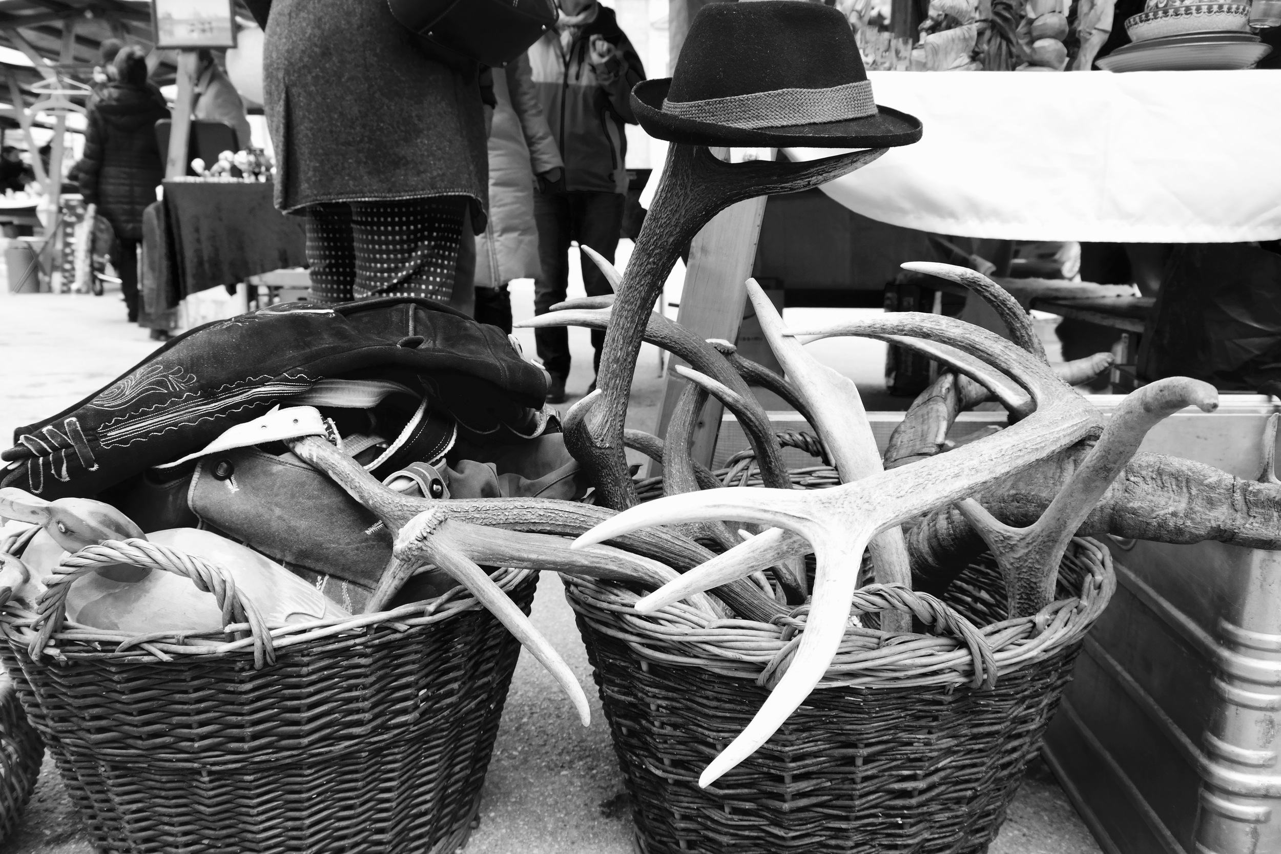 Austrian flea markets: your antler and Tyrolean hat supplier.