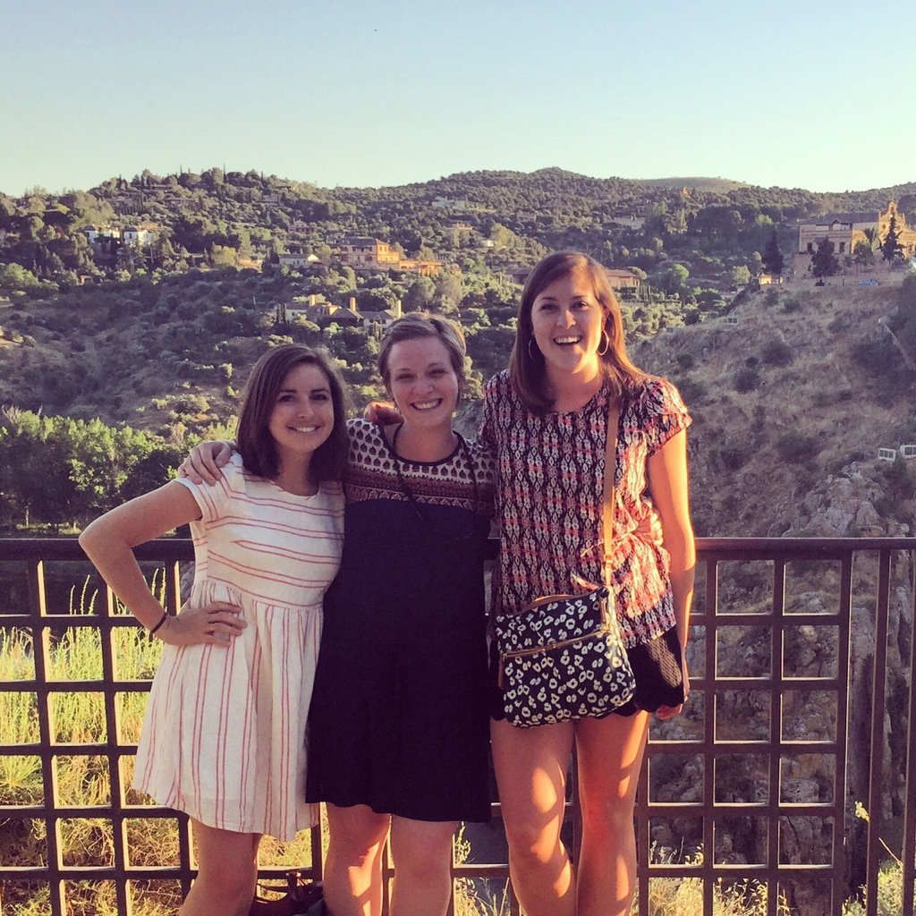 Girls' night in Toledo, enjoying the fantastic views from any cafe we could find!