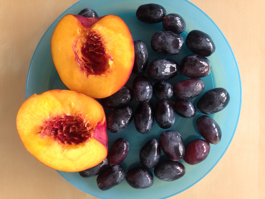 Fresh fruit at the end of summer--these colors make me happy!