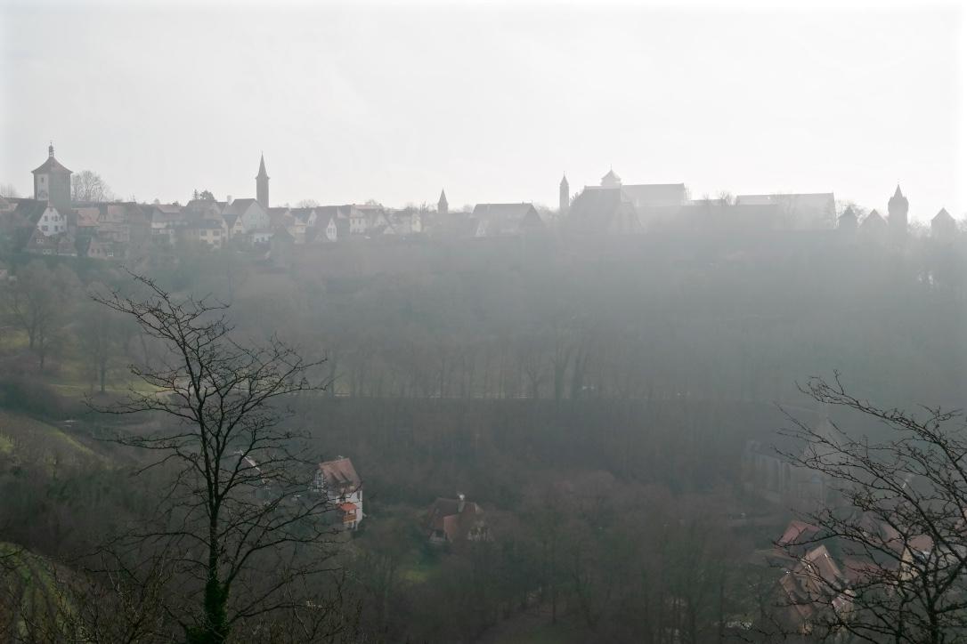 Rothenburg in the morning fog.
