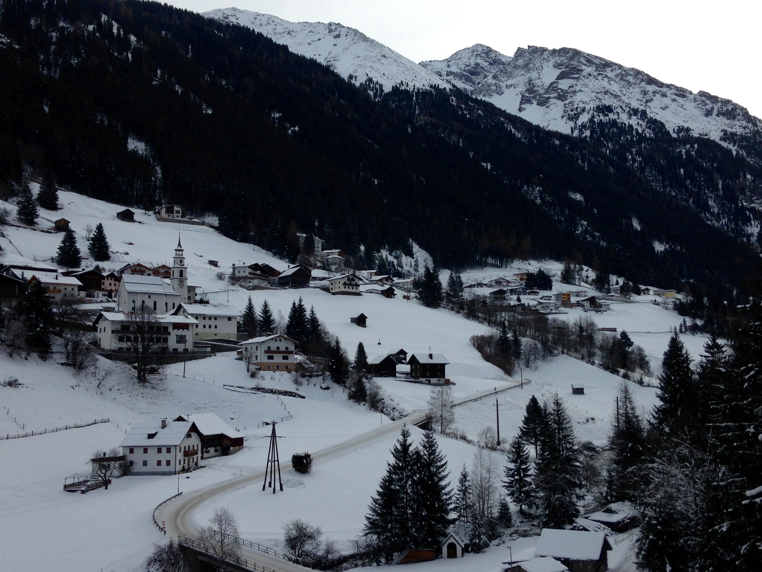 Not your average church retreat spot, right? This was the view from our chalet.