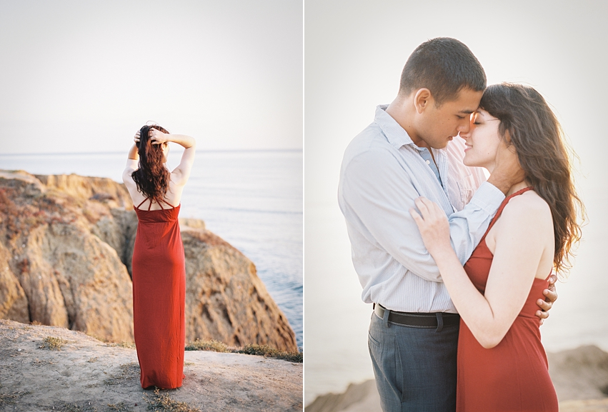 Sunset Cliff Engagement Session