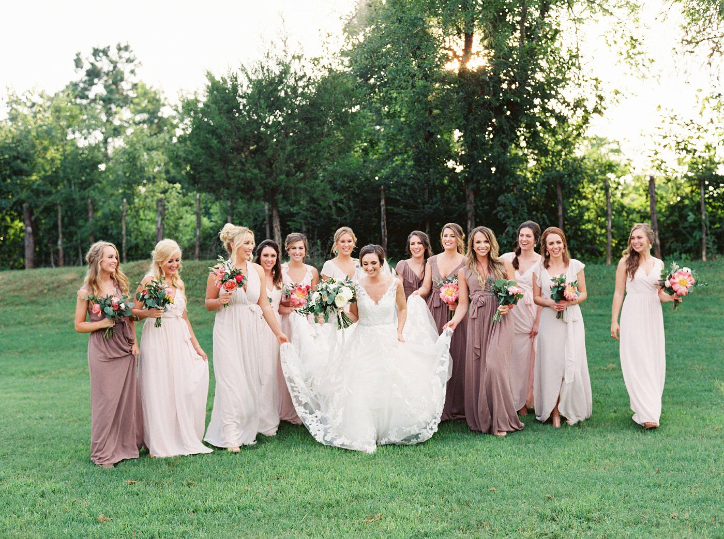 Mismatched Bridesmaid Dresses, Destination Wedding Photographer, Georgia Wedding Photographer, North Carolina Wedding Photographer