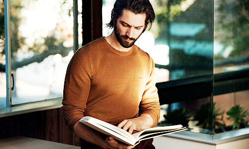 Image via  Hot Guys Reading Books .