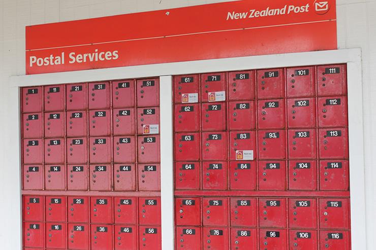 Te Kauwhata Post Office boxes