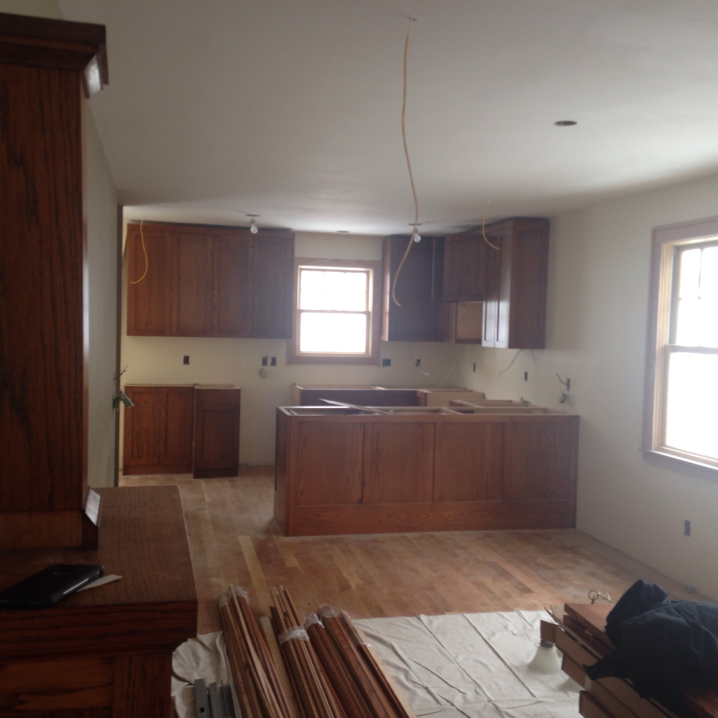 Kitchen cabinets in