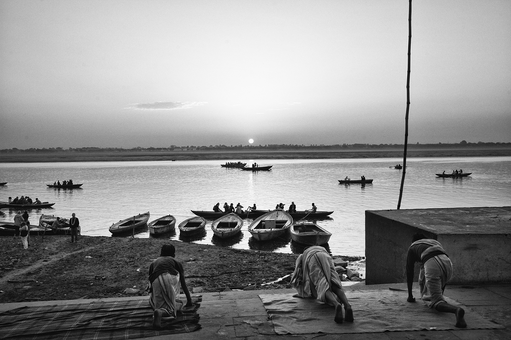 """""""the Ganges river, Varanasi, India""""  photo copyright : Russell Shakespeare 2015"""