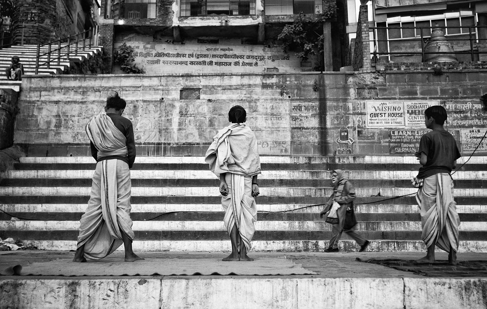 """Kedarghat, Varanasi, India""     photo copyright : Russell Shakespeare 2015"
