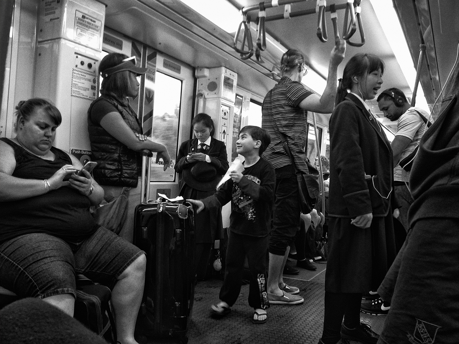 """The Commute""       photo copyright : Russell Shakespeare 2015"