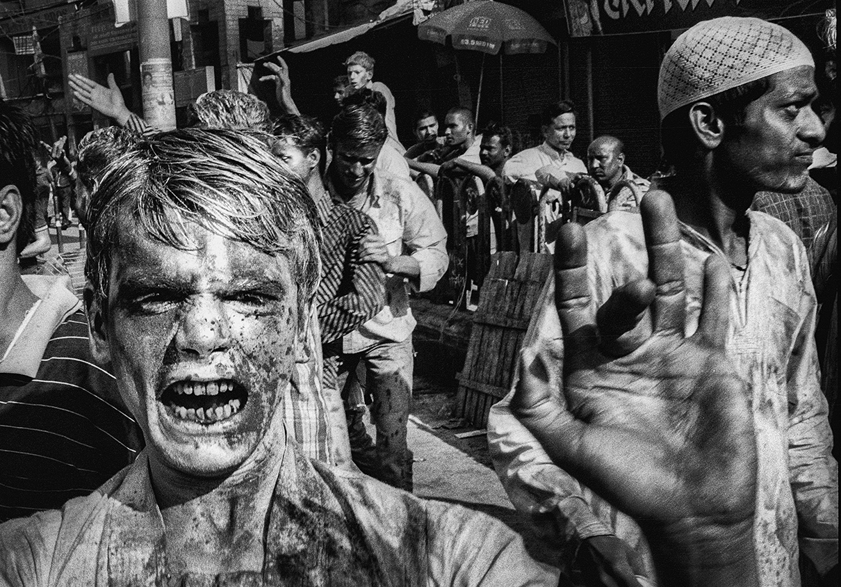 """Holi Festival, Varanasi""                            photo copyright : Russell Shakespeare 2015"