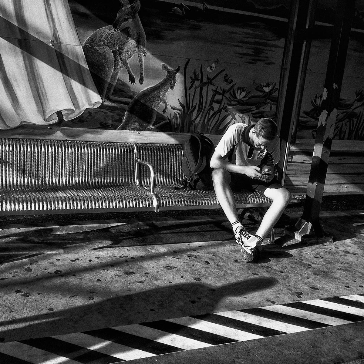 """The Commute, Loganlea""                            © Russell Shakespeare 2016"