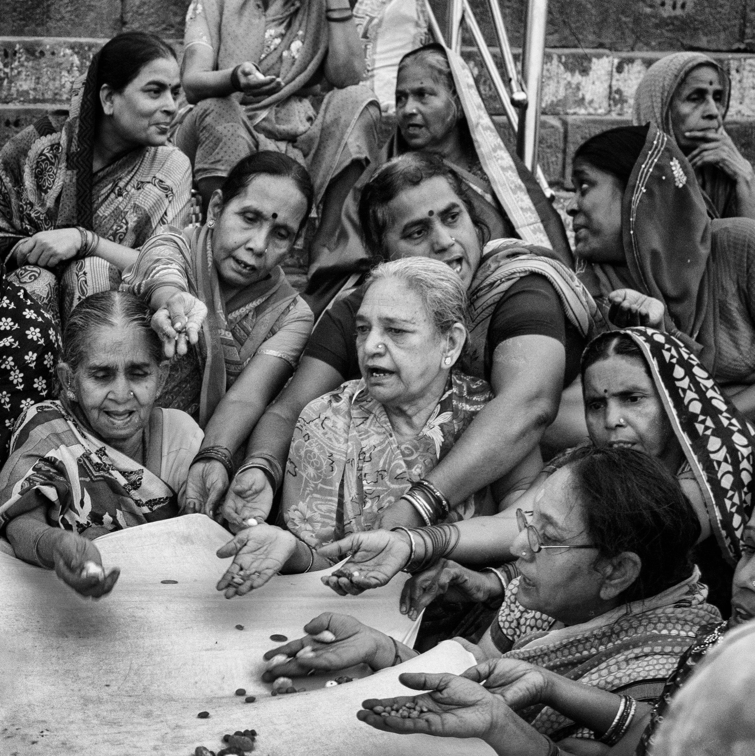 """Sisterhood, Kedar Ghat, Varanasi""                   © Russell Shakespeare 2016"
