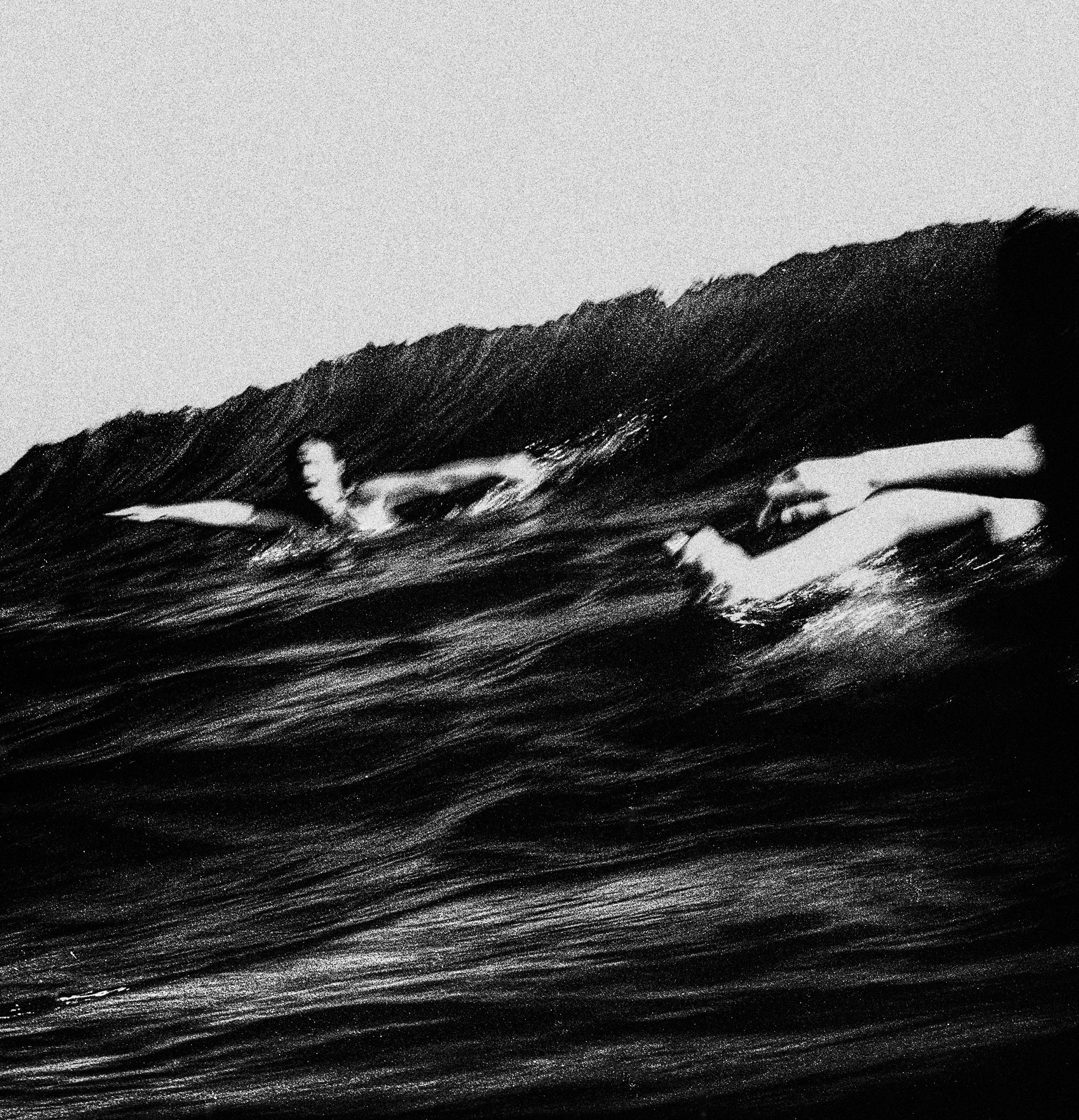 """""""Bodysurfers, Currumbin Alley""""                             © Russell Shakespeare 2018"""