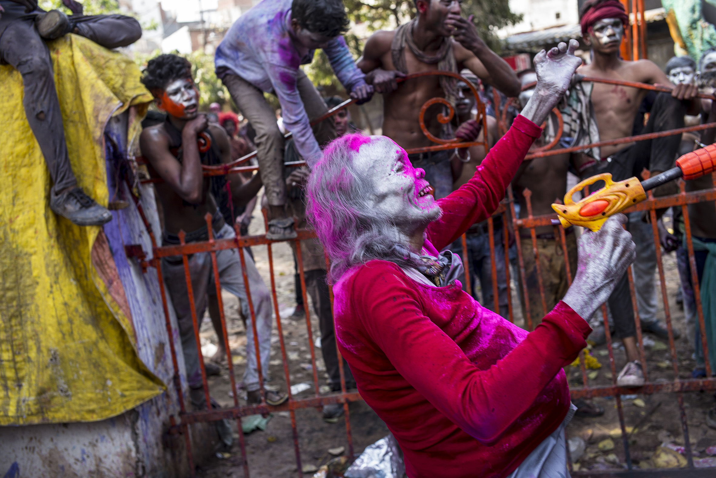 """Holi"" Festival celebrations in Varanasi, India                                       © Russell Shakespeare 2018"