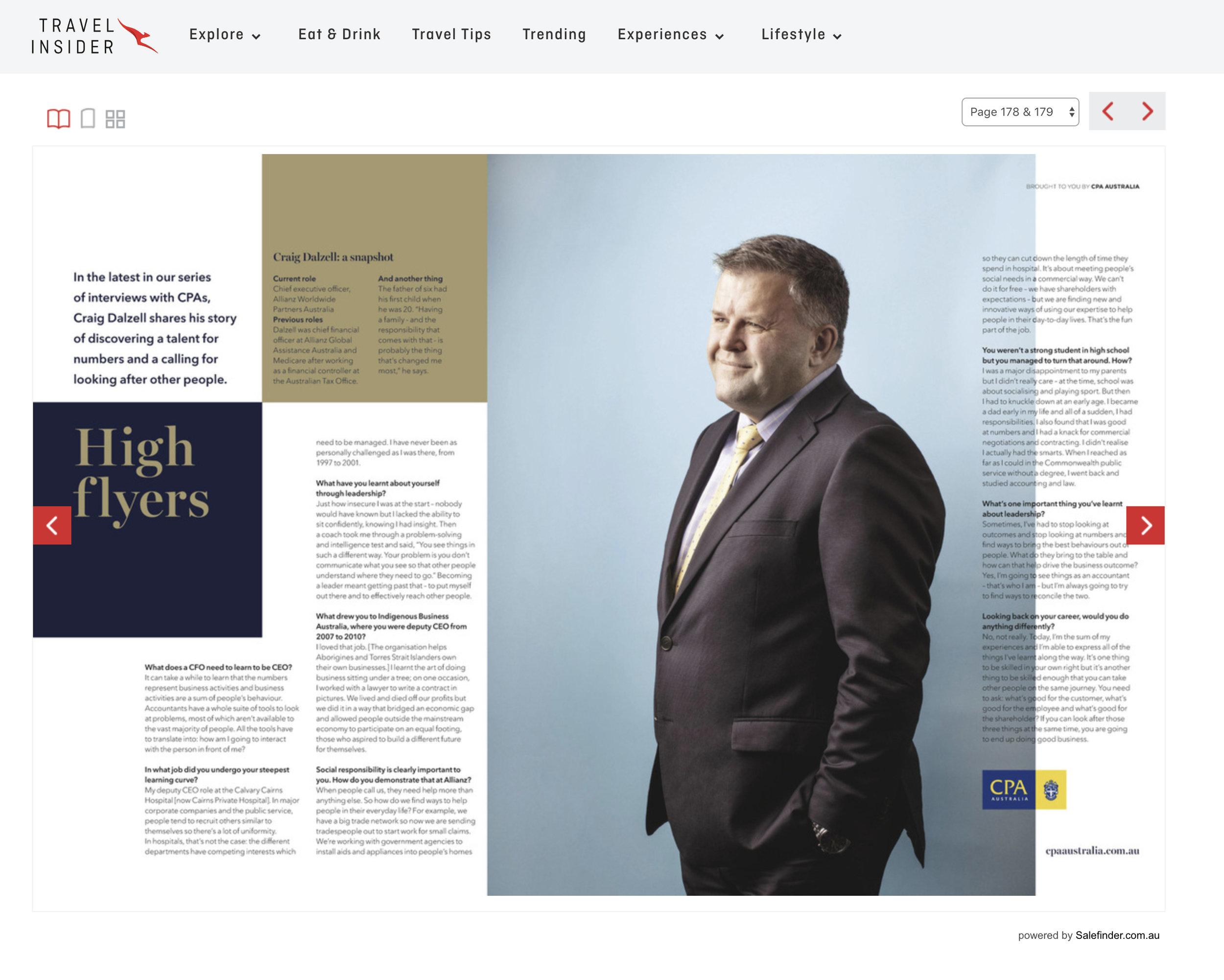 Craig Dalzell for Qantas Magazine
