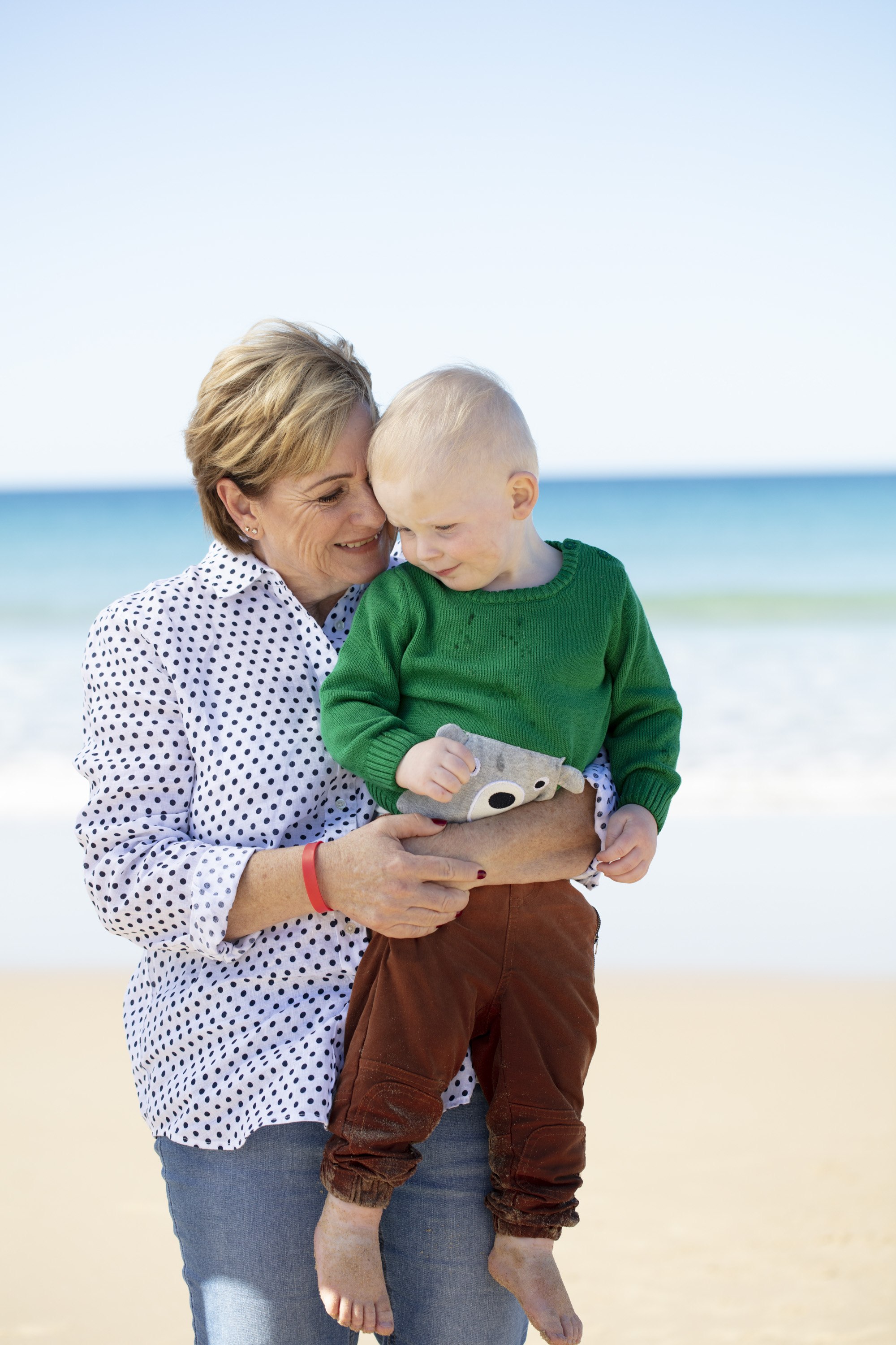 Denise Morcombe with Grandson Winston. photographed on the Sunshine Coast, Qld for The Australian Women's Weekly Magazine . © Russell Shakespeare 2018