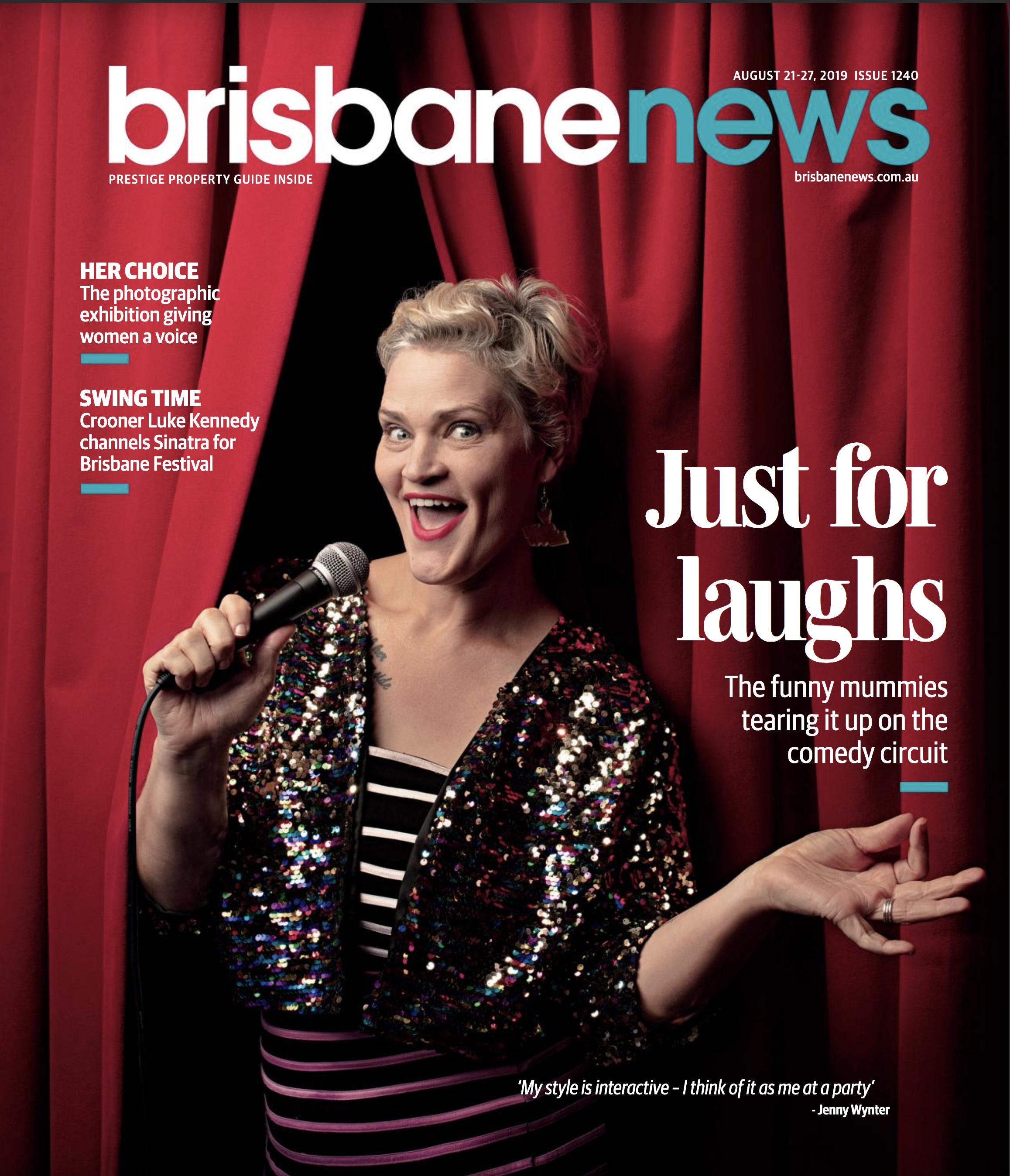 Comedian Jenny Wynter for Brisbane News                                                             © Russell Shakespeare 2019