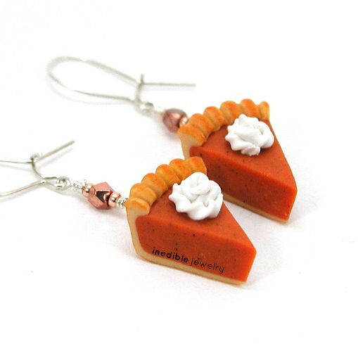 inedible jewelry pumpkin earrings