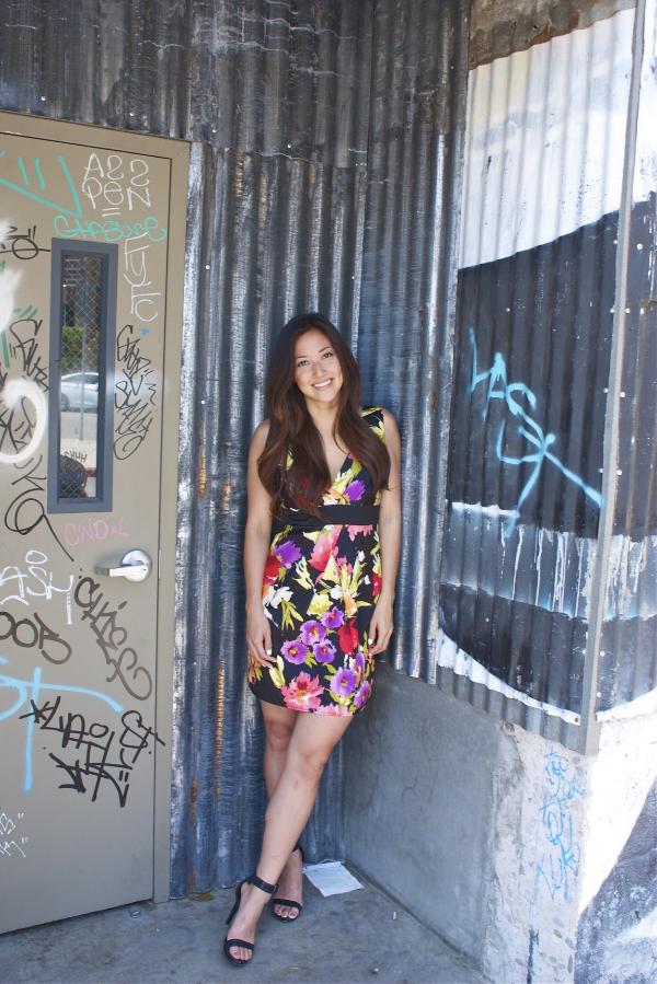 arts district floral dress