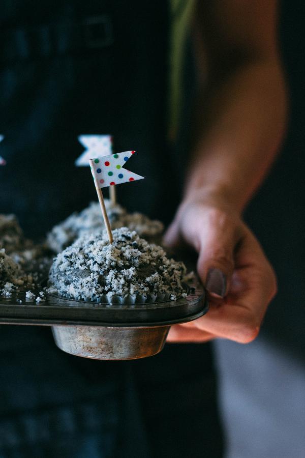 black sesame muffin tin