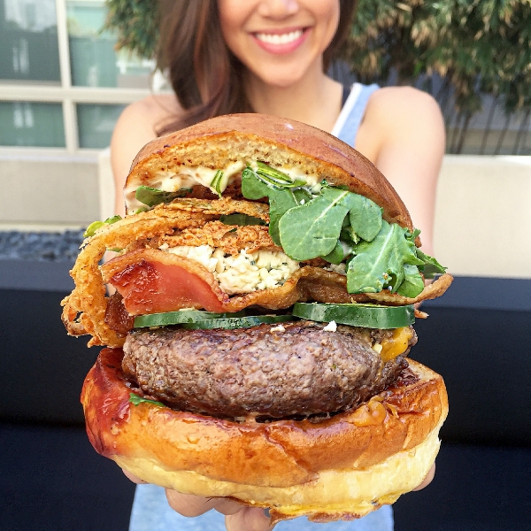 #stirandsmile with the Bleu Burger . Get $10 in Postmates delivery credit by using the code STIRANDSTYLE!