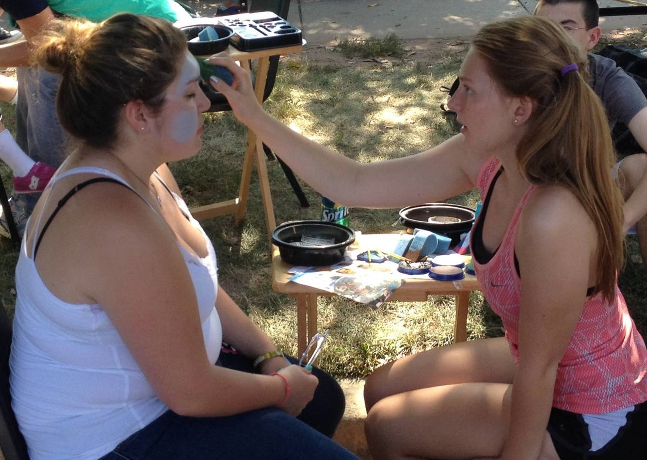 Face painting at Poolesville Day