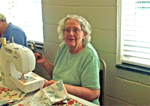 Sewing love to the world . . .