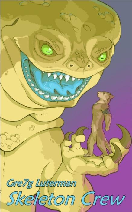 Cover art for Gre7g Luterman's  Skeleton Crew.