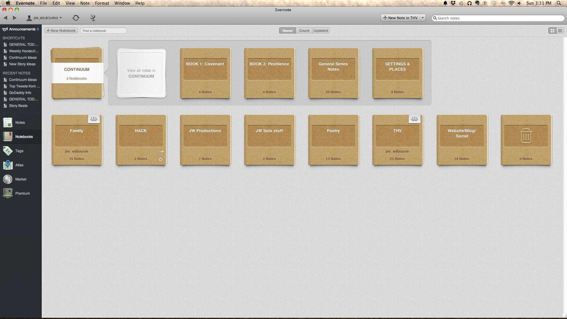 My Evernote Desktop App