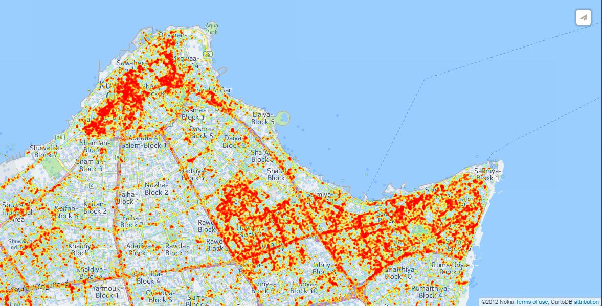 Sample distribution for a 10,000 user panel over 3 days.