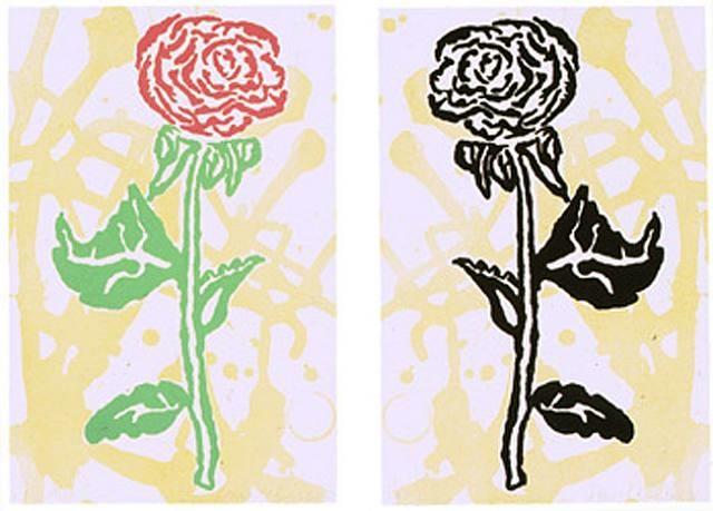 Donald Baechler,  Two Sided Flower