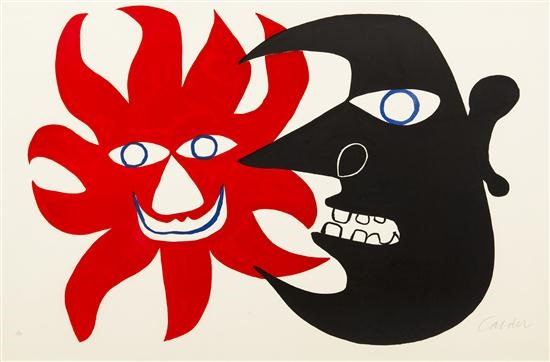 Alexander Calder,  Black Moon, Red Sun