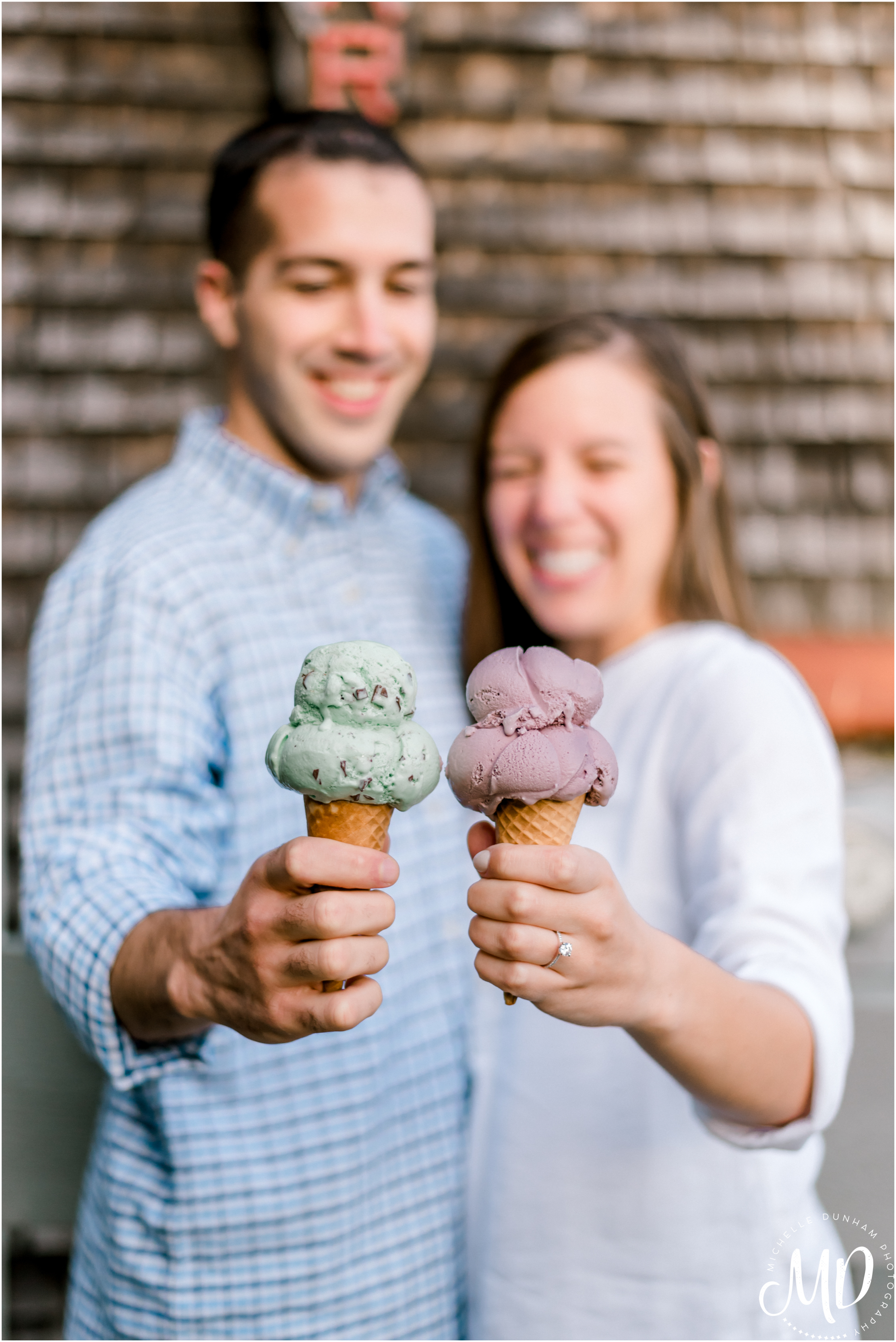 Michelle Dunham Photography-Duxbury-MA-Engagement-FarFars-Ice Cream 6.jpg