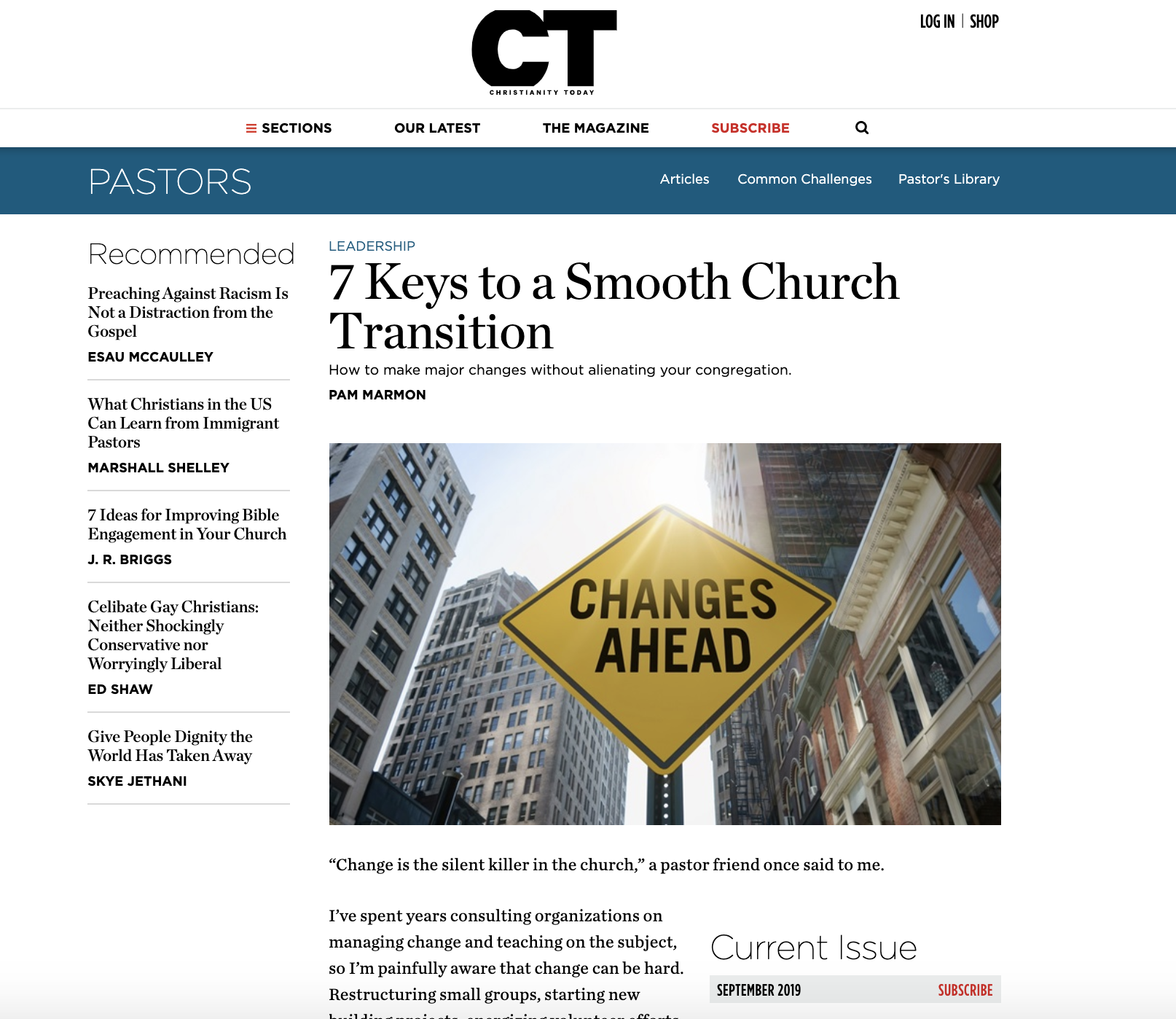 Featured Article in Christianity Today
