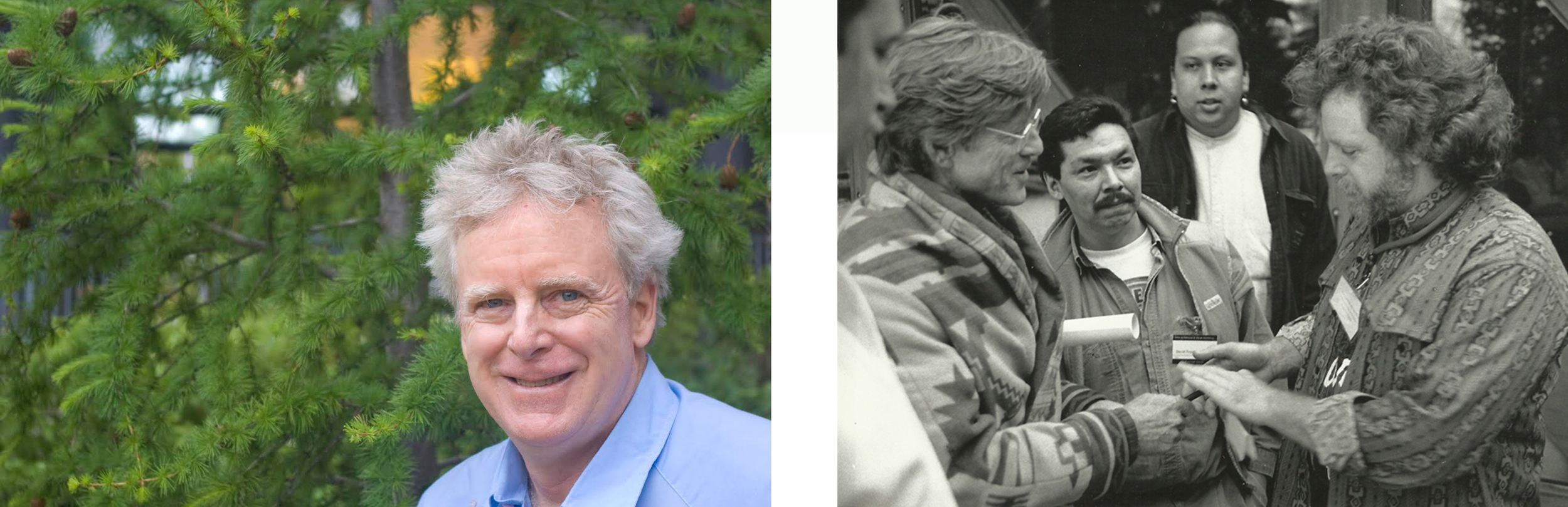 James Cullingham (PhD York University, Toronto), 2014                       Robert Redford, David Poisey and James Cullingham                                                                  Sundance Film Festival, 1994