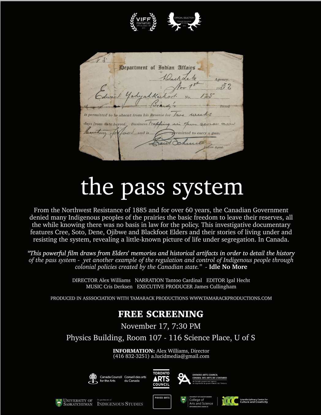 Click photo to view the Pass System's screening posters