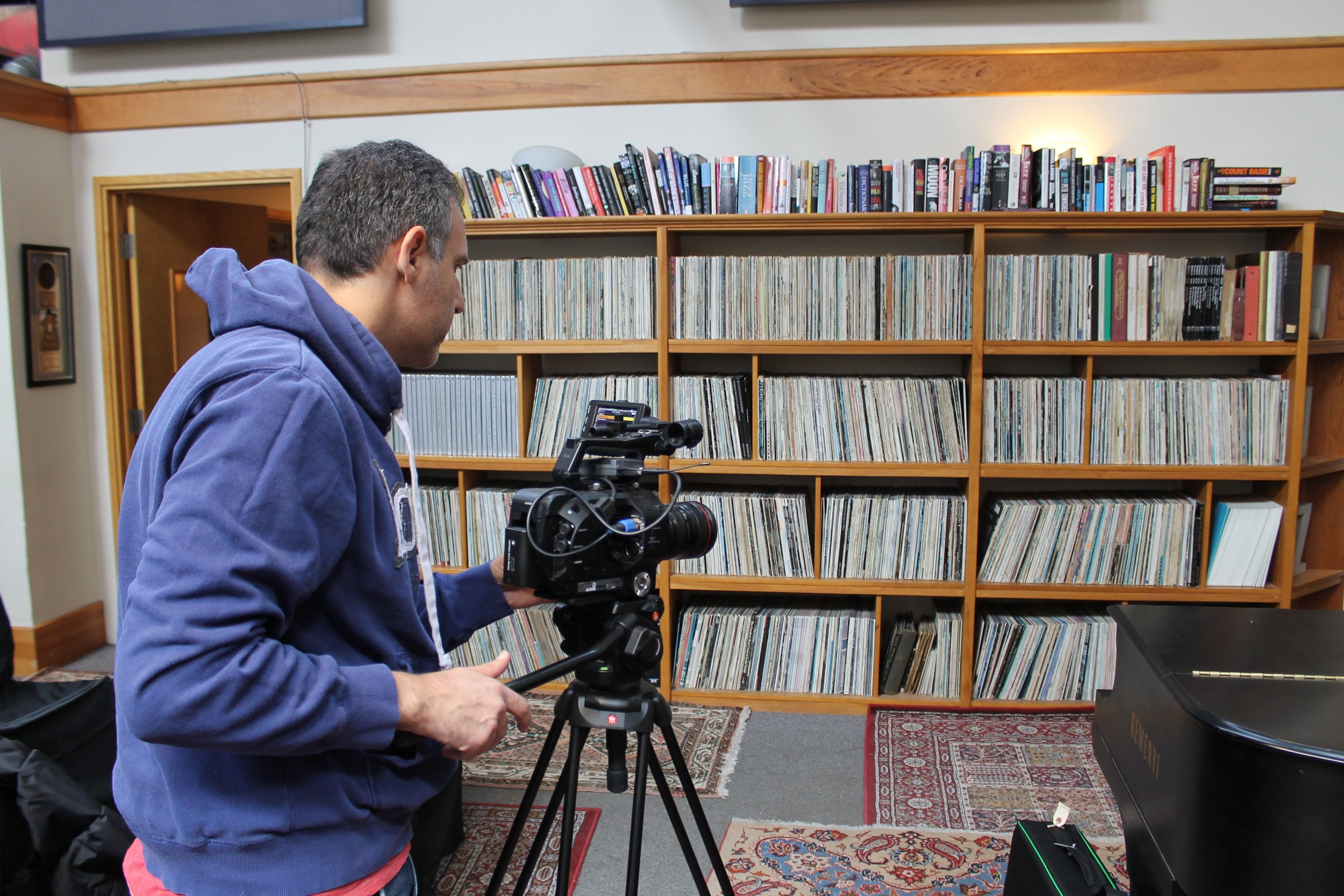 Galloway Film Cinematographer Igal Hecht preparing for Ross Porter Interview at JazzFM91.1 - Mar. 2016