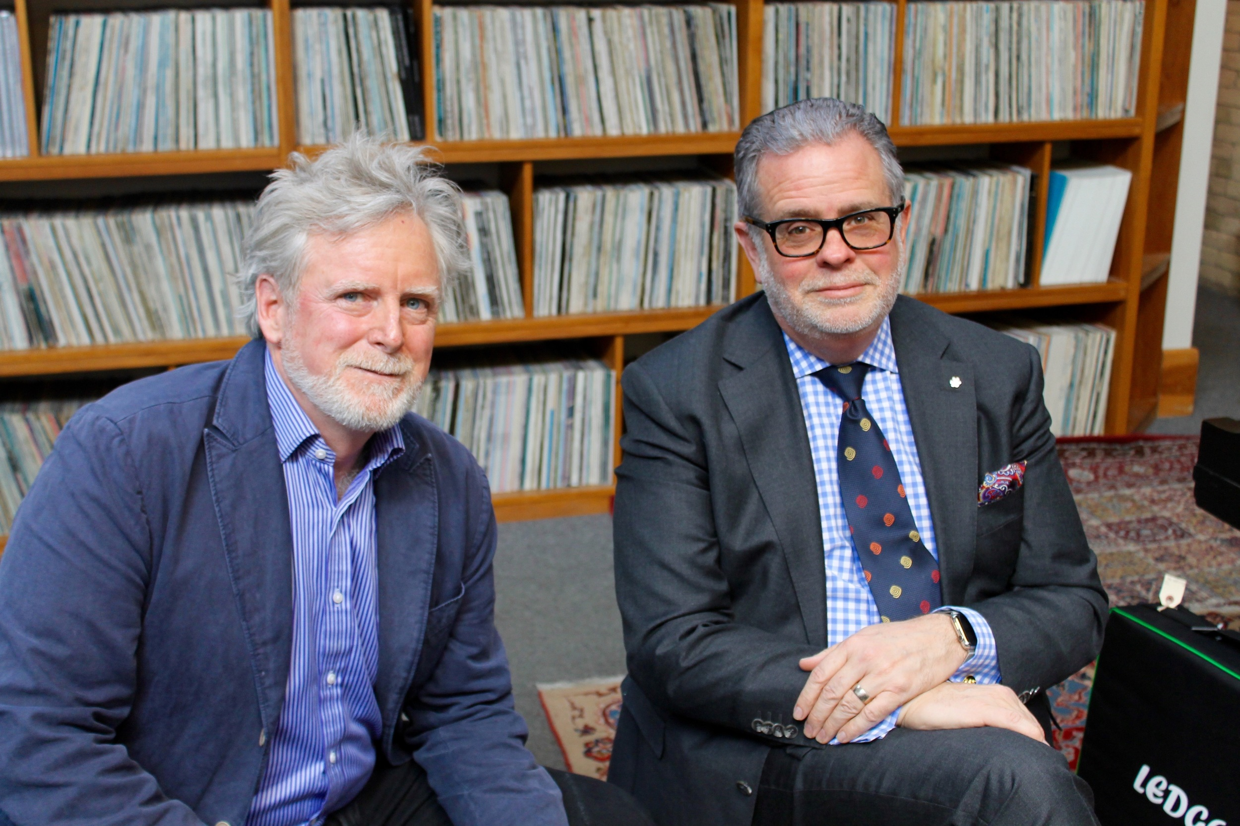 Galloway film Producer/Director James Cullingham (left) with JazzFM CEO, Ross Porter (right) - Mar. 2016