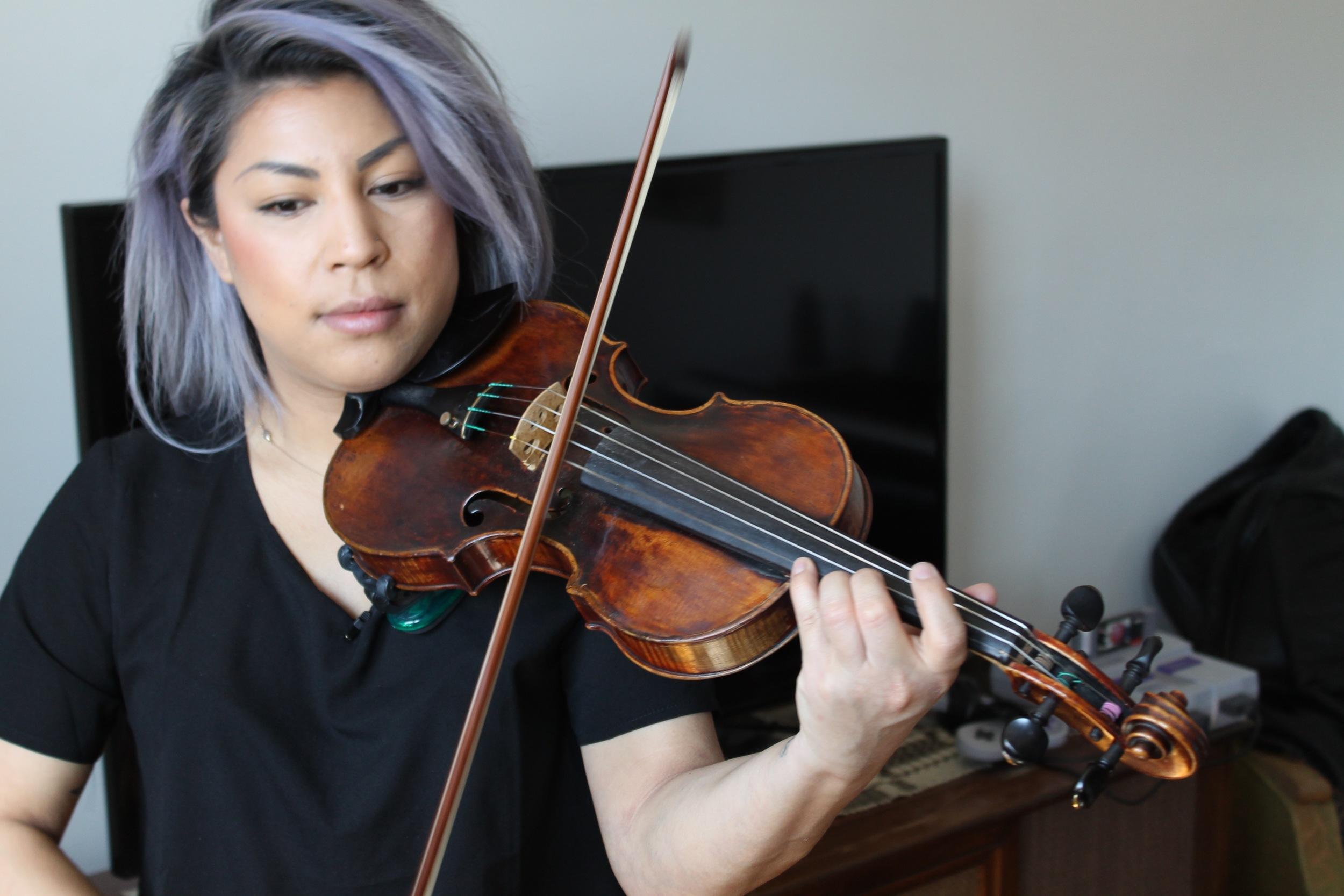 Singer, violinist and musician Maya Killtron - Apr. 2016