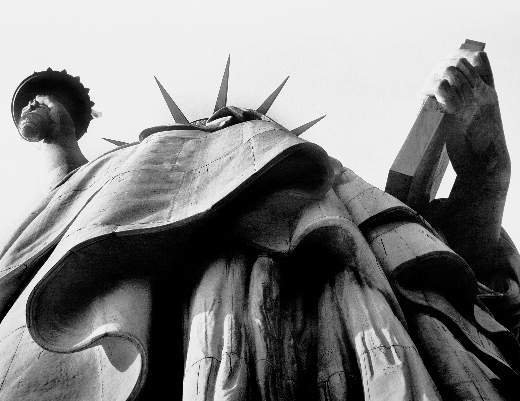 The mighty Statue of Liberty from an empowering angle.