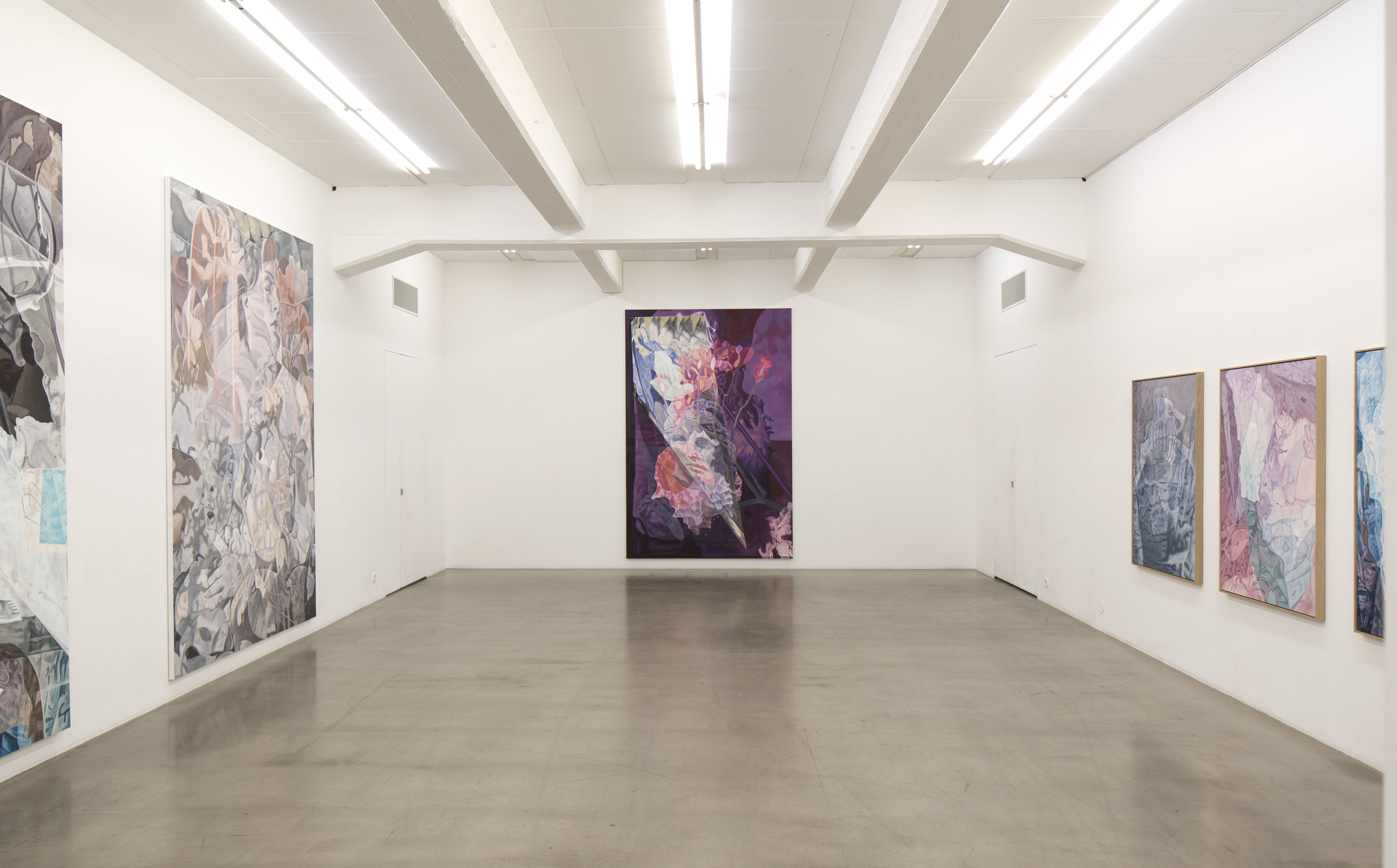 Installation shot of the  Diaphanous Dioramas  show at Galleri Andersson/Sandström, Stockholm.