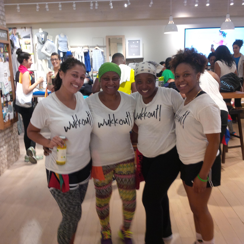 L to R: Wukkout!® founder Krista Martins, Wukkout!® enthusiast Evelyn, Aspire 2 Dance Owner Deborah Cook, Aspire 2 Dance Assistant Michelle Lawton