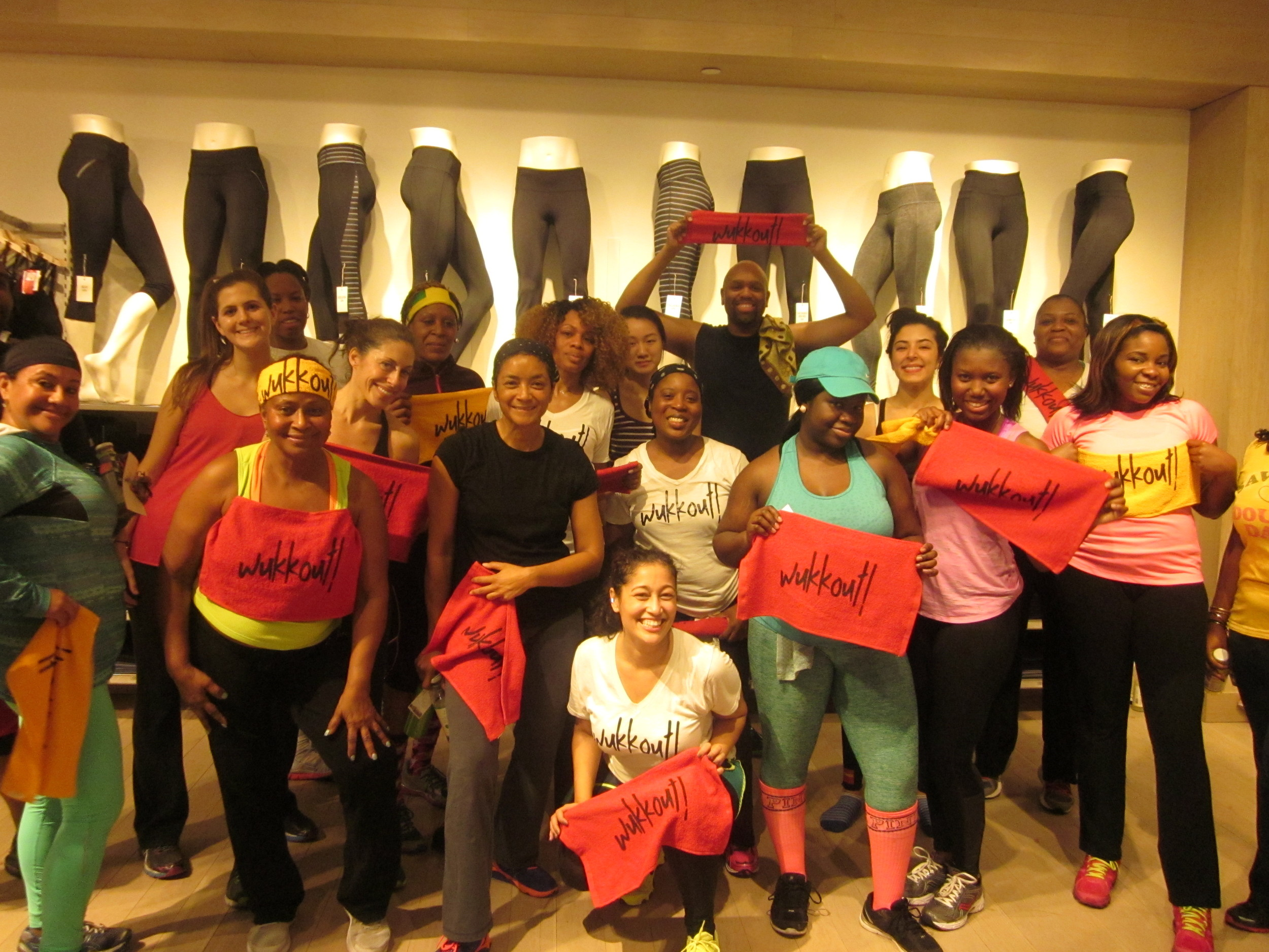 Wukkout!® at Athleta Flatiron - January 2015