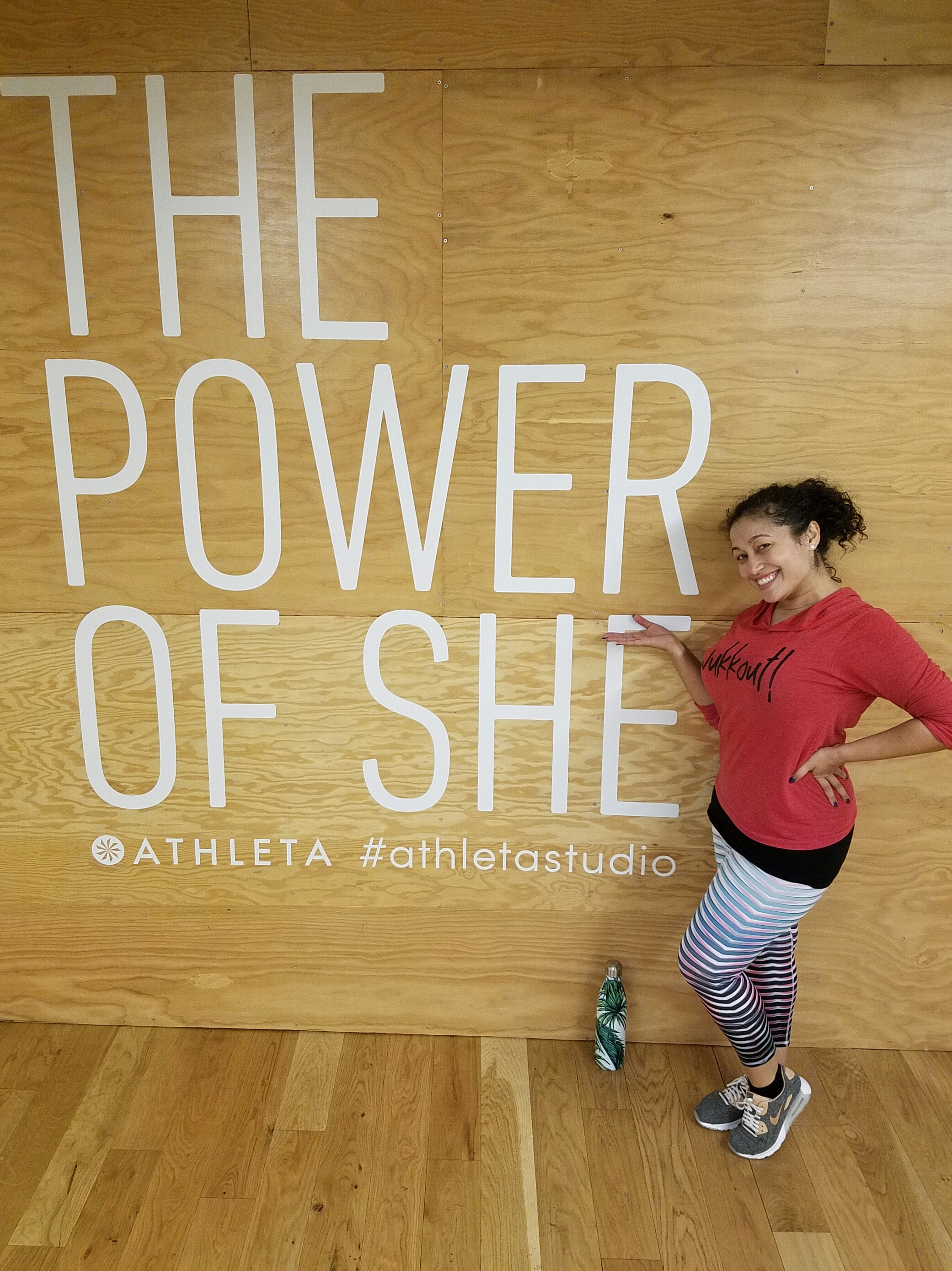 Congratulations to Wukkout!® Founder, Krista Martins, for being named the Athleta Studio's Instructor of the Month for March!  She is wearing the  High Rise Prism Chaturanga™ Capri .  Get them online or in-store while you still can!