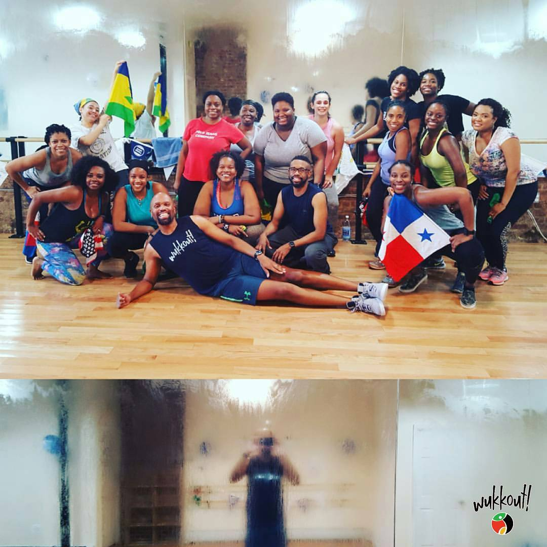 "Shoutout to everyone who ""fogged up de place"" with Tyrone last month at Fit4Dance."