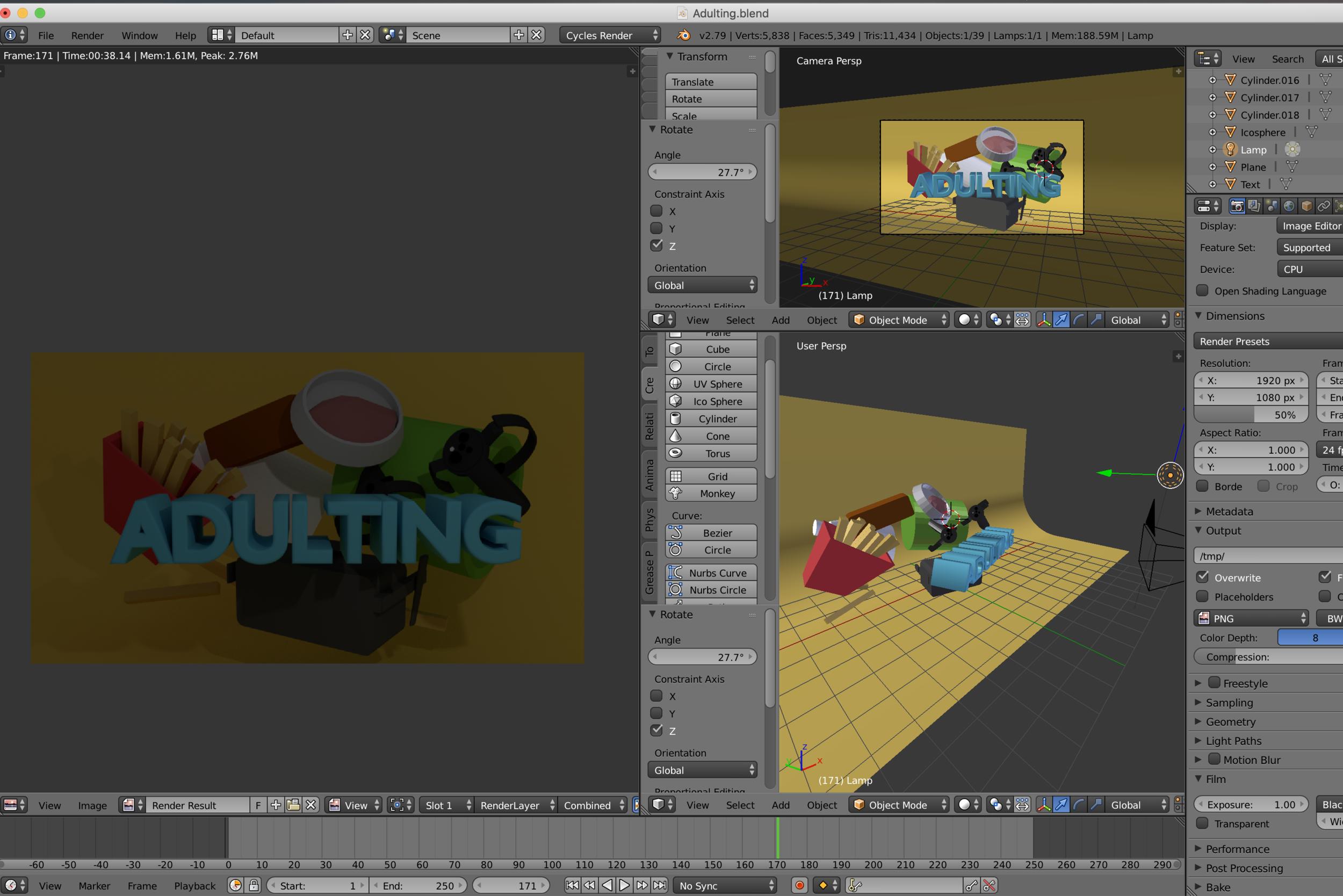 3D Poster Rendering