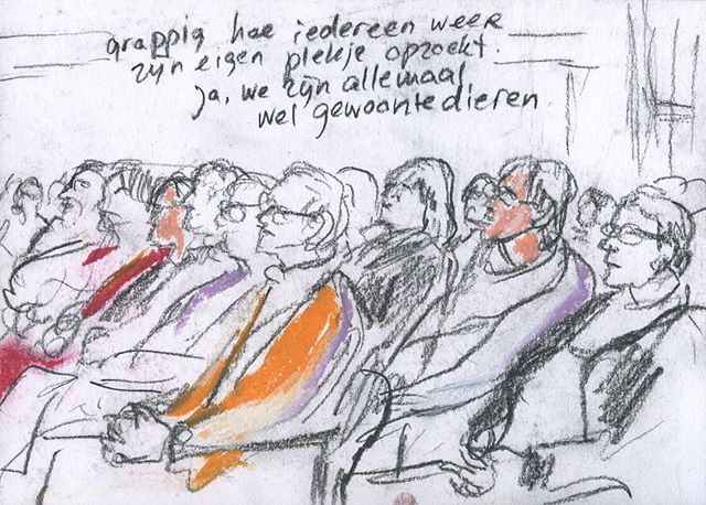 'Ja we zijn allemaal wel gewoontedieren' - met belangenorganisatie voor (ex)gedetineerden #bonjo waren #debeeldvormers mee bij het symposium #eenwereldvanverschil . #lekkerzitten #gewoontedier #metznallen #gemeenschap #eigenplekje #gezelligmetelkaar